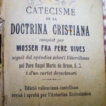 El ignorado catecismo de Pere Vives en valenciano… o casi