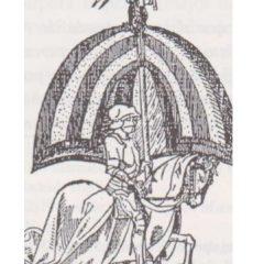 Señera de dos barras del Tratat d'Almirra, los blaveros y Sentandreu