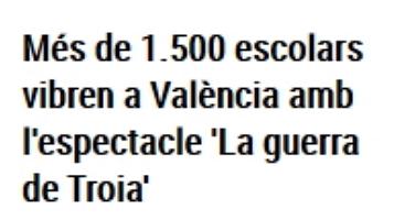 """La catalanada del día del periódico Levante: """"Troia"""""""