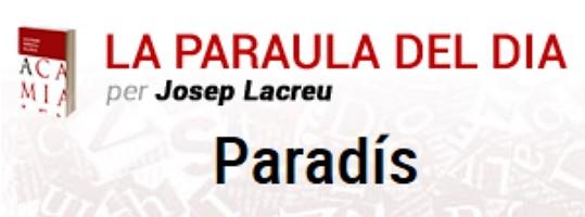 """La catalanada diaria del periódico catalán Levante: """"Paradís"""""""