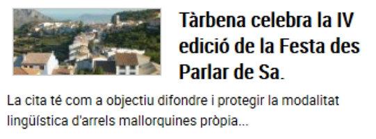 La catalanada del Levante: La Quinta Columna de Tárbena