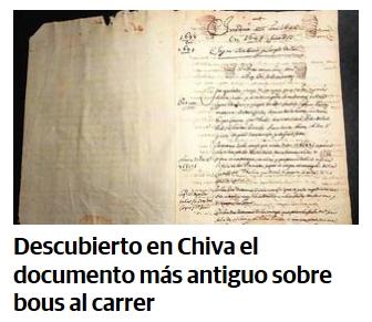 'Bous al carrer en 1648',  abulia y catalanismo en Las Provincias